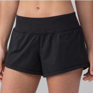 Lululemon Black Final Lap Shorts Size 2 NWT